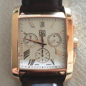 ESQ Movado Chronograph Watch   Not a Scratch!